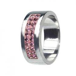 Swarovski crystals RSSW01-ROSE (Ocelový prsten RSSW01-ROSE)