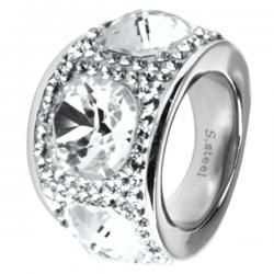 Swarovski Swarovski crystals RSSW12-CZ (Ocelový prsten Swarovski crystals RSSW12-CZ)