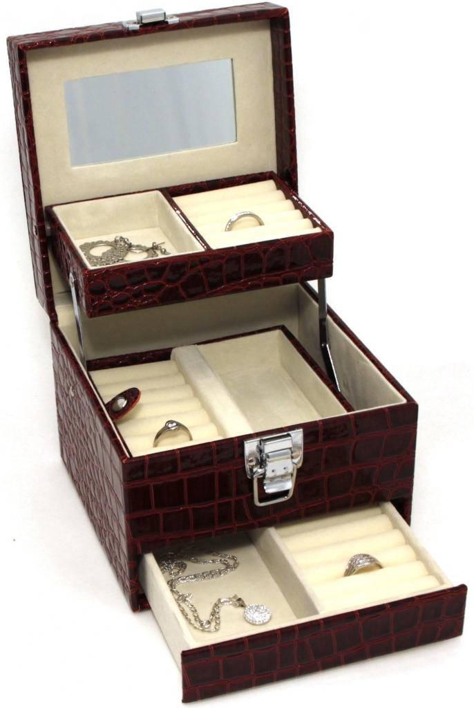 Šperkovnice JKBox Bordo SP252-A10