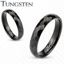 Wolframové snubní prsteny R-TUF-009