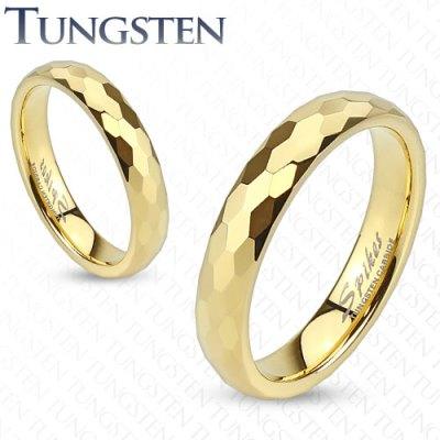 Wolframové snubní prsteny R-TUF-010