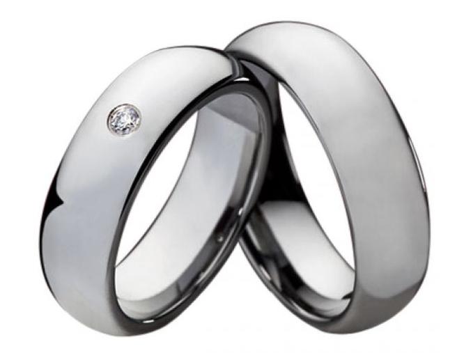 Wolframové snubní prsteny R-TU-138-4