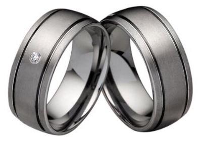 Wolframové snubní prsteny R-TW-005