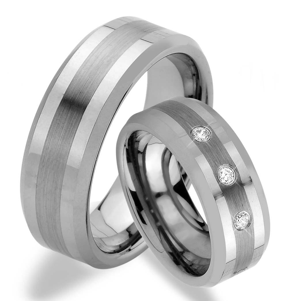 Wolframové snubní prsteny R-TW-006
