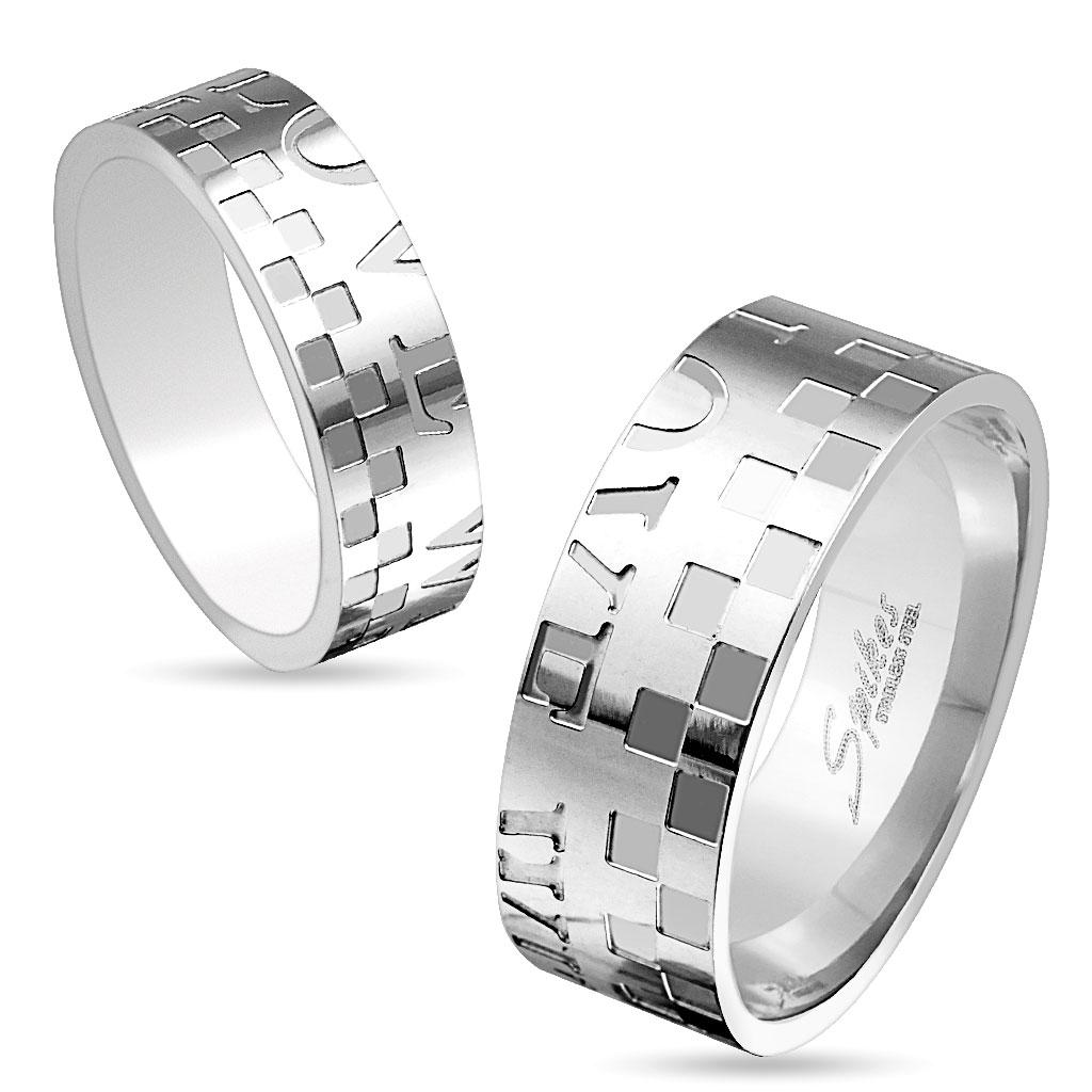 Snubní prsteny z chirurgické oceli R-M3179