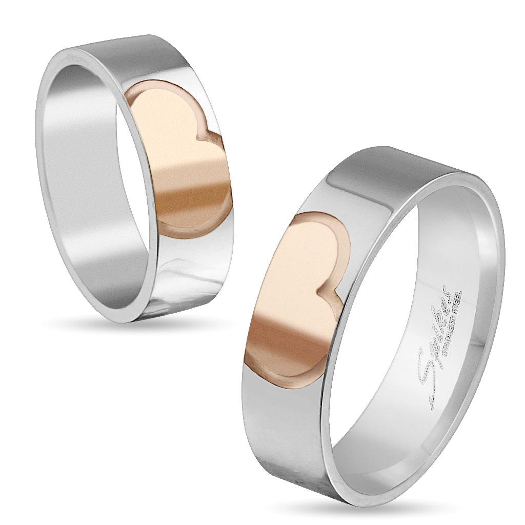 Snubní prsteny z chirurgické oceli R-M4144