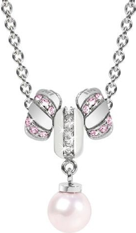 Náhrdelník Morellato Drops Pink Pearls CZ096