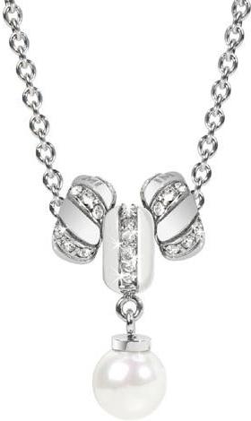 Náhrdelník Morellato Drops White Pearls CZ095