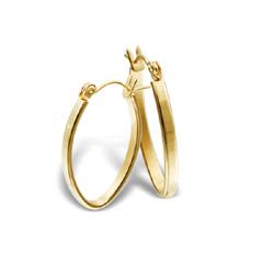Náušnice z chirurgické oceli ESH42-GOLD (Ocelové Náušnice ESH42-GOLD)