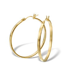 Náušnice z chirurgické oceli ESH38-GOLD (Ocelové Náušnice ESH38-GOLD)