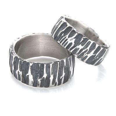 Snubní prsteny kovaná nerezová ocel KO-001