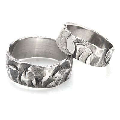 Snubní prsteny kovaná nerezová ocel KO-003