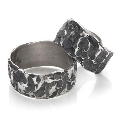 Snubní prsteny kovaná nerezová ocel KO-004