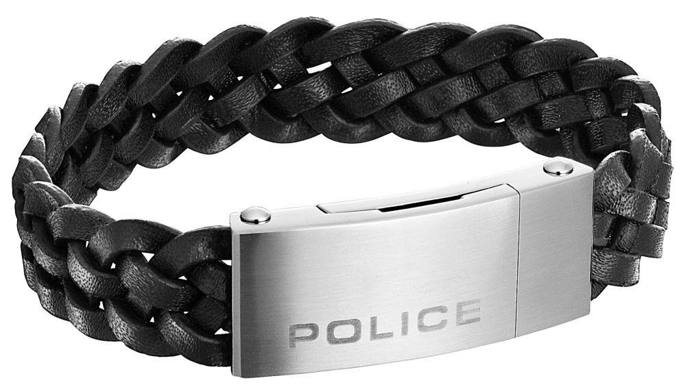 Náramek Police z chirurgické oceli a kůže PJ25152BLB/01-L Indy