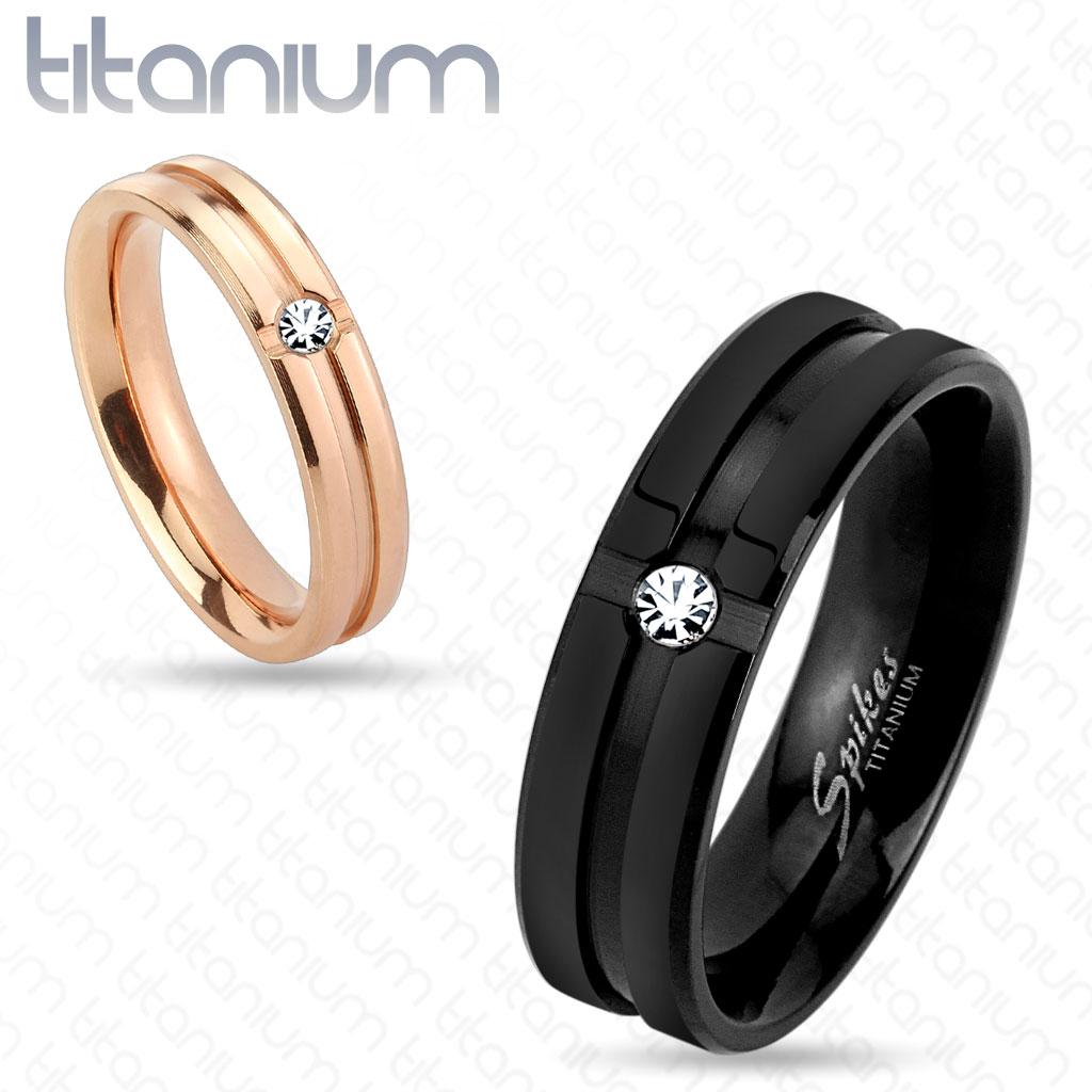 Snubní titanové prsteny R-TM-3829