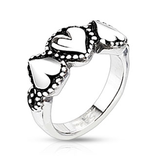 Prsten z chirurgické oceli R-H4362 (Dárkové balení zdarma)