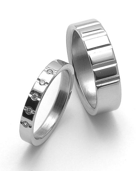 Snubní ocelové prsteny ZERO Collection rz04009+rz86009 (Snubní ocelové prsteny ZERO Collection rz04009+rz86009)