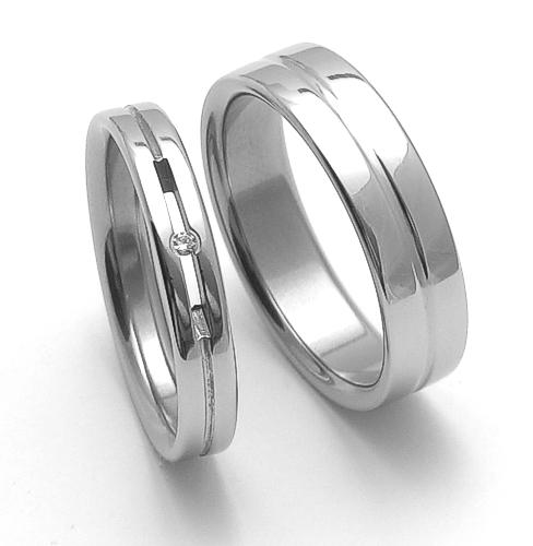 Snubní ocelové prsteny ZERO Collection rz04026+rz86118 (Snubní ocelové prsteny ZERO Collection rz04026+rz86118)