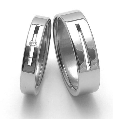 Snubní ocelové prsteny ZERO Collection rz04045+rz86010 (Snubní ocelové prsteny ZERO Collection rz04045+rz86010)