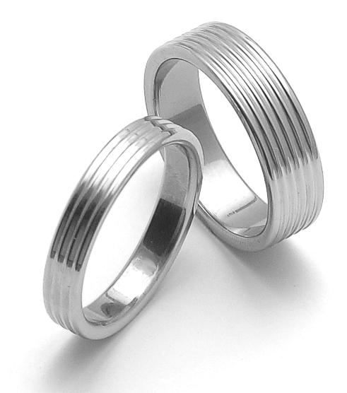 Snubní ocelové prsteny ZERO Collection rz04800+rz06800 (Snubní ocelové prsteny ZERO Collection rz04800+rz06800)