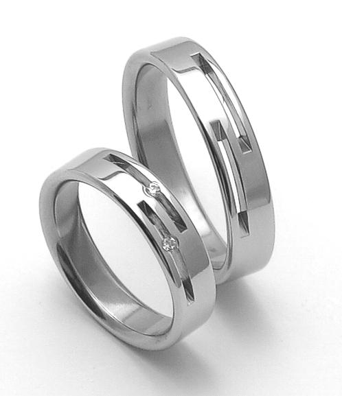 Snubní ocelové prsteny ZERO Collection rz05015+rz85015 (Snubní ocelové prsteny ZERO Collection rz05015+rz85015)