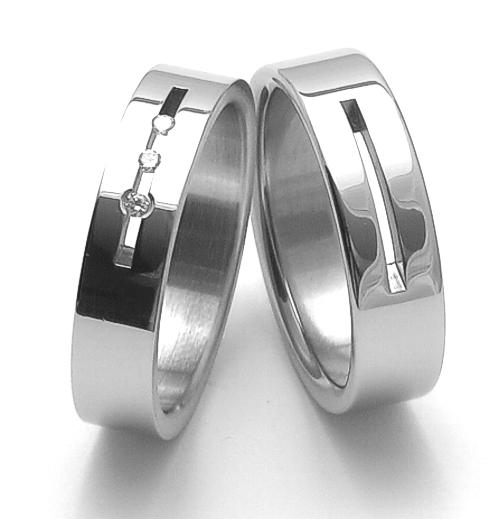 Snubní ocelové prsteny ZERO Collection rz06010+rz86010 (Snubní ocelové prsteny ZERO Collection rz06010+rz86010)