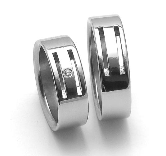Snubní ocelové prsteny ZERO Collection rz06104+rz86104 (Snubní ocelové prsteny ZERO Collection rz06104+rz86104)