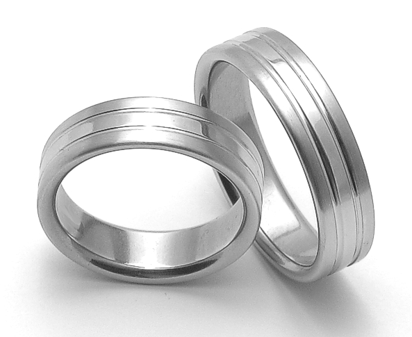 Snubní ocelové prsteny ZERO Collection rz06248+rz06248 (Snubní ocelové prsteny ZERO Collection rz06248+rz06248)