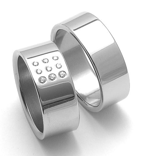 Snubní ocelové prsteny ZERO Collection rz08001+rz08000 (Snubní ocelové prsteny ZERO Collection rz08001+rz08000)