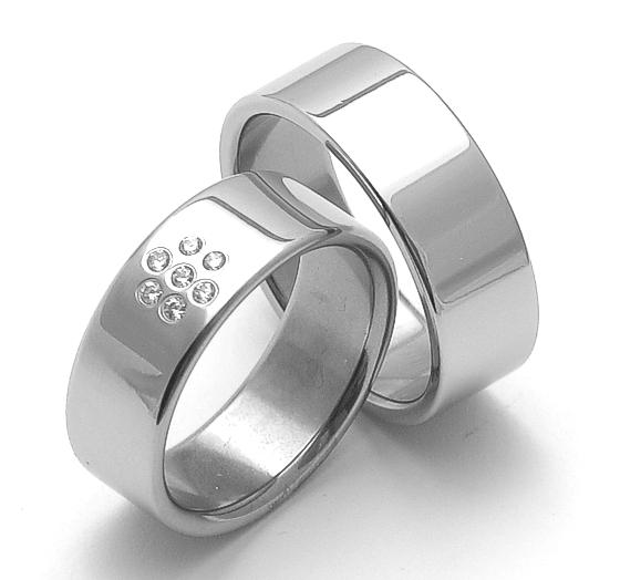 Snubní ocelové prsteny ZERO Collection rz08002-rz08000 (Snubní ocelové prsteny ZERO Collection rz08002-rz08000)
