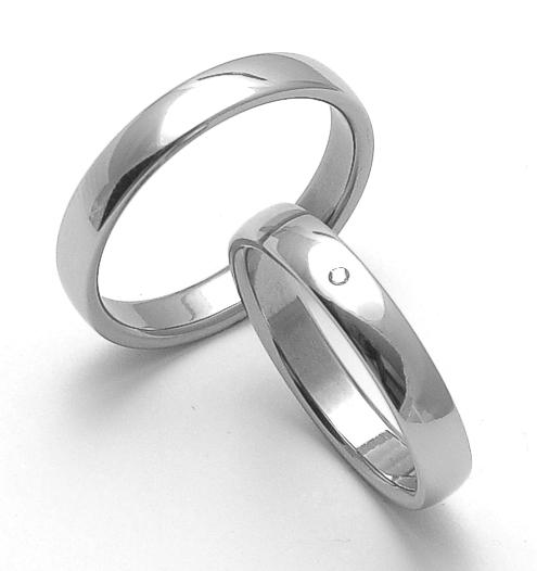 Snubní ocelové prsteny ZERO Collection rz14000+rz14001 (Snubní ocelové prsteny ZERO Collection rz14000+rz14001)