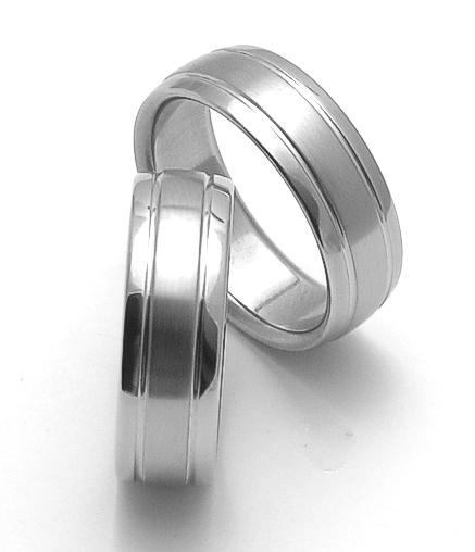 Snubní ocelové prsteny ZERO Collection rz17007+rz17007 (Snubní ocelové prsteny ZERO Collection rz17007+rz17007)