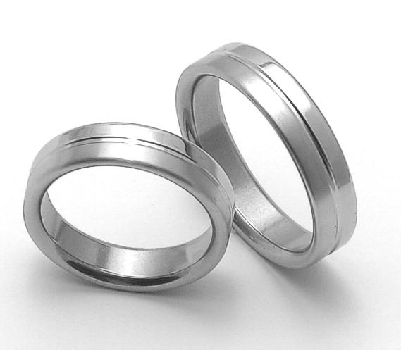Snubní ocelové prsteny ZERO Collection rz85118+rz85118 (Snubní ocelové prsteny ZERO Collection rz85118+rz85118)