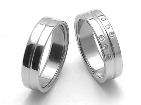 Snubní ocelové prsteny ZERO Collection rz86118+rz06118 (Snubní ocelové prsteny ZERO Collection rz86118+rz06118)