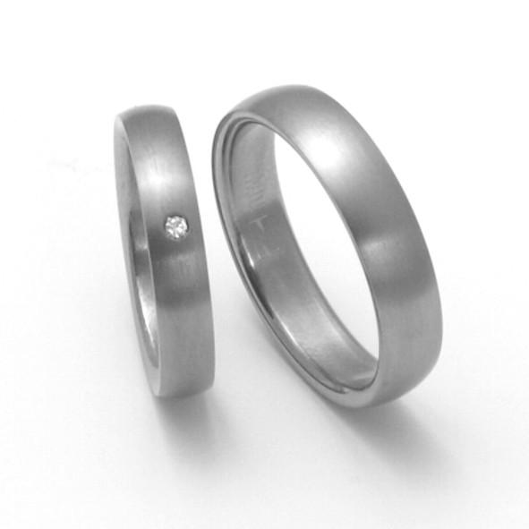 Snubní Titanové prsteny ZERO Collection TTN0201+TTN0202 (Snubní Titanové prsteny ZERO Collection TTN0201+TTN0202)