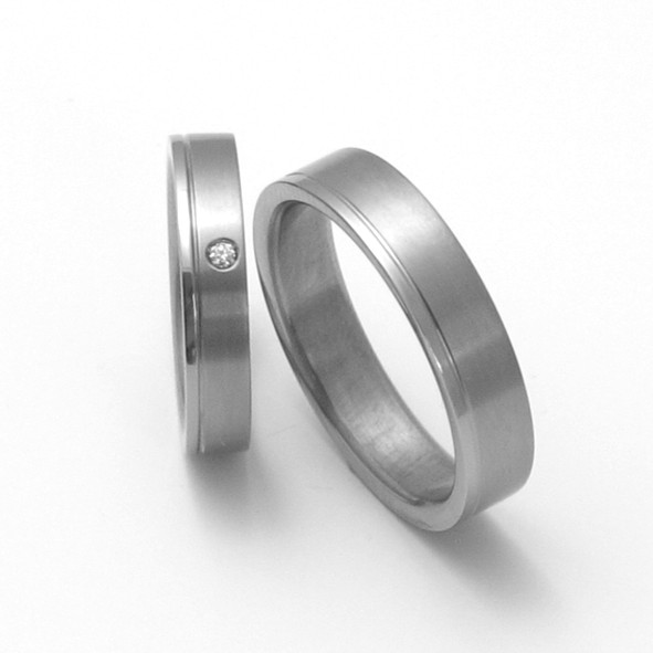 Snubní Titanové prsteny ZERO Collection TTN0301+TTN0302 (Snubní Titanové prsteny ZERO Collection TTN0301+TTN0302)