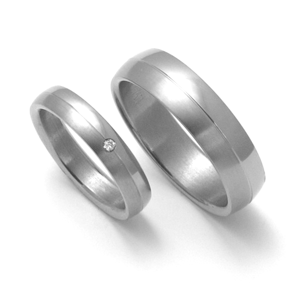 Snubní Titanové prsteny ZERO Collection TTN0401+TTN0402 (Snubní Titanové prsteny ZERO Collection TTN0401+TTN0402)