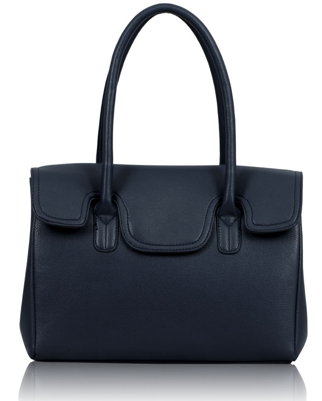 Kabelka LS0047 - Navy Ziptop Grab Shoulder Bag