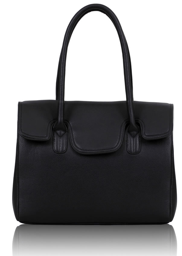 Kabelka LS0047 - Black Ziptop Grab Shoulder Bag