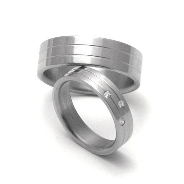 Snubní Titanové prsteny ZERO Collection TTN0501+TTN0502 (Snubní Titanové prsteny ZERO Collection TTN0501+TTN0502)