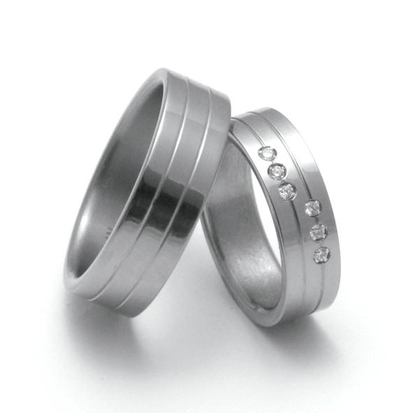 Snubní Titanové prsteny ZERO Collection TTN0501+TTN2502 (Snubní Titanové prsteny ZERO Collection TTN0501+TTN2502)