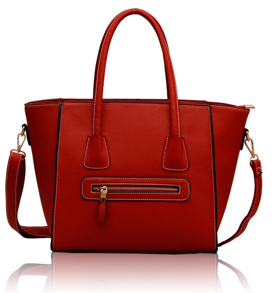 Kabelka LSLS00125 - Red Tote Shoulder Bag