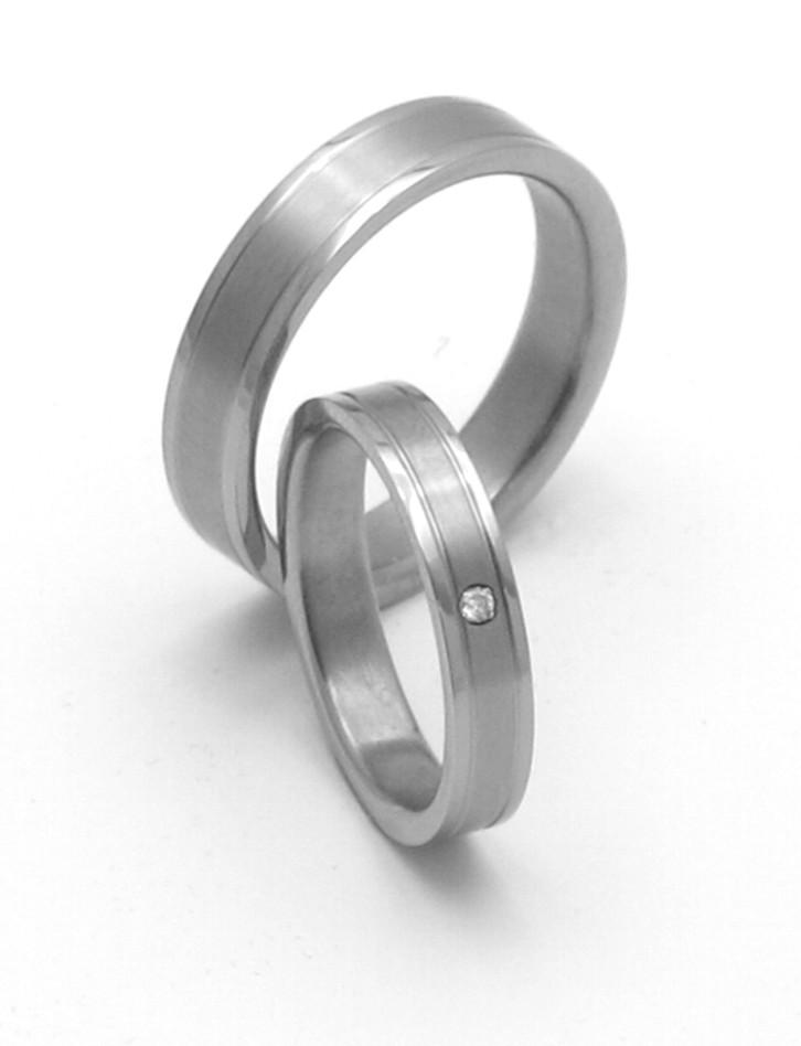 Snubní Titanové prsteny ZERO Collection TTN0901+TTN0902 (Snubní Titanové prsteny ZERO Collection TTN0901+TTN0902)