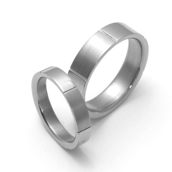Snubní Titanové prsteny ZERO Collection TTN1001+TTN1002 (Snubní Titanové prsteny ZERO Collection TTN1001+TTN1002)