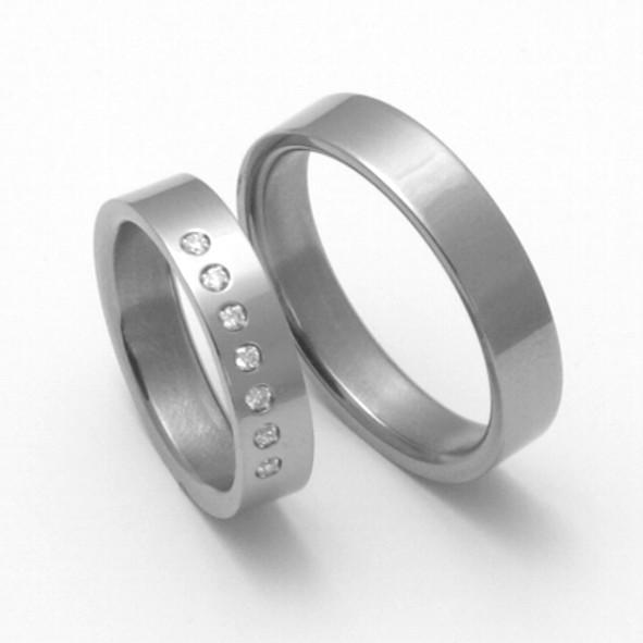 Snubní Titanové prsteny ZERO Collection TTN1101+TTN3002 (Snubní Titanové prsteny ZERO Collection TTN1101+TTN3002)