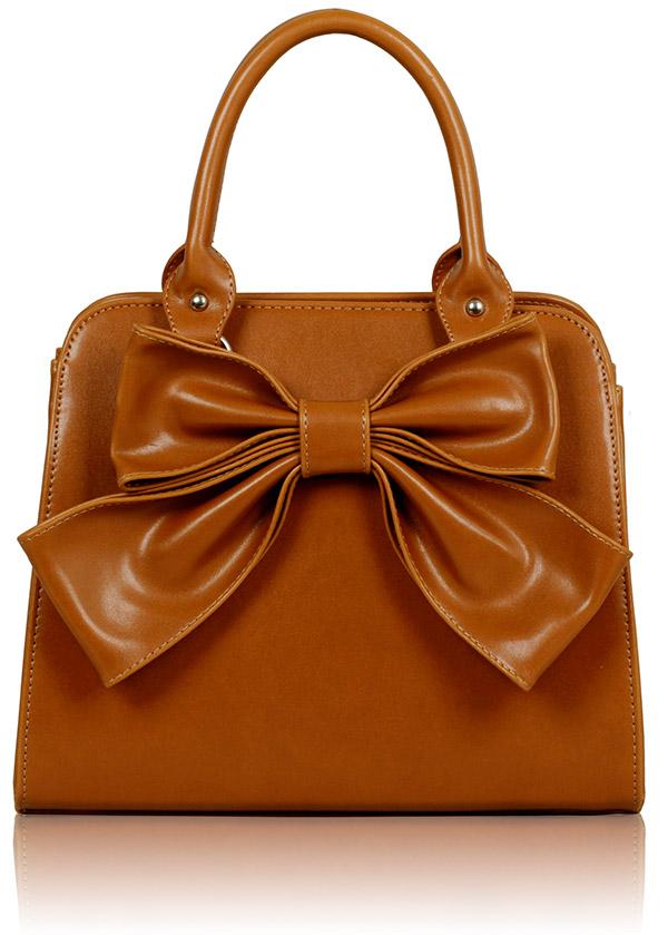 Kabelka LS005A- Tan Bow Tote Bag