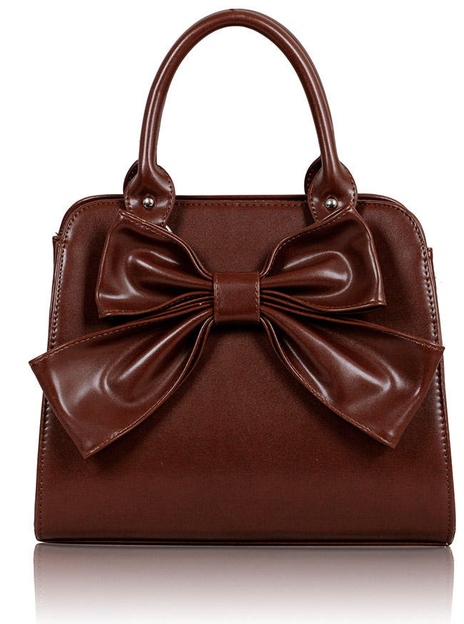 Kabelka LS005A- Brown Bow Tote Bag