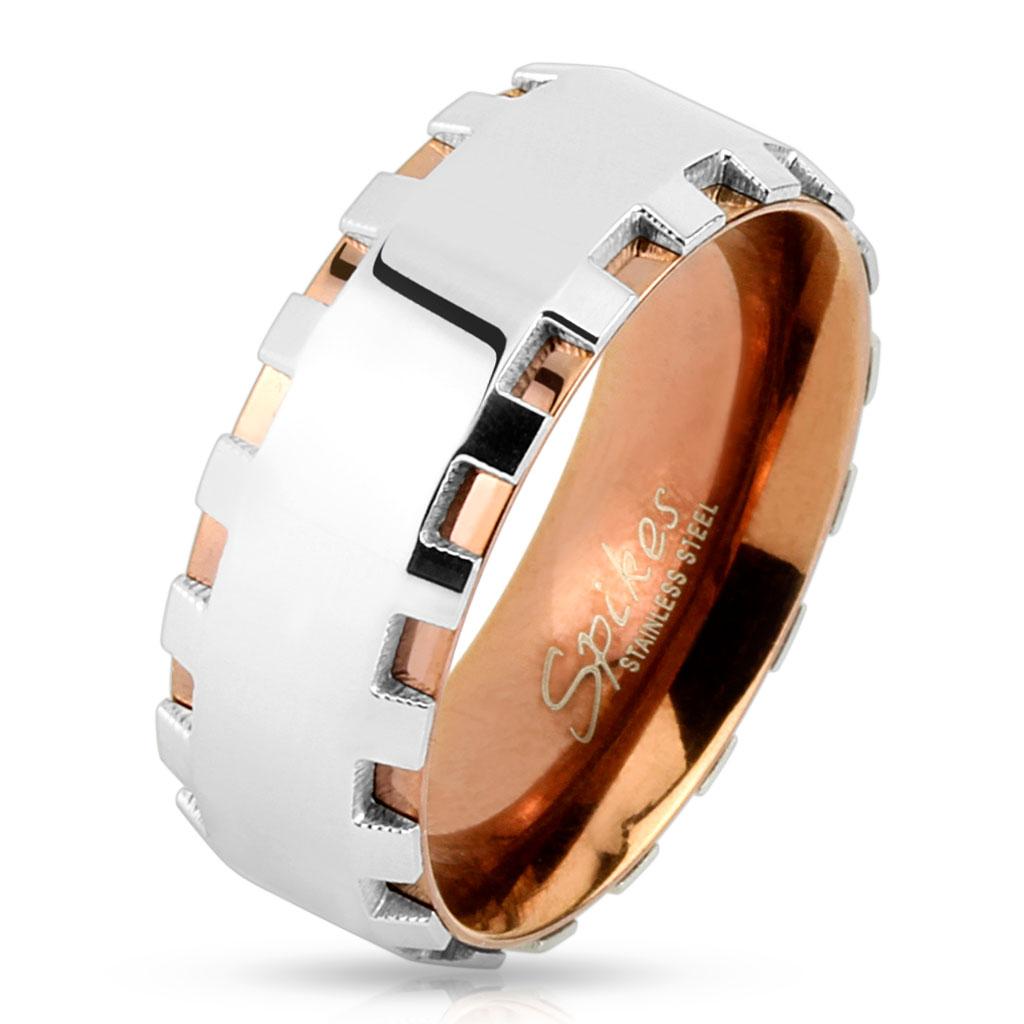 Prsten z chirurgické oceli R-H9945 (Dárkové balení zdarma)