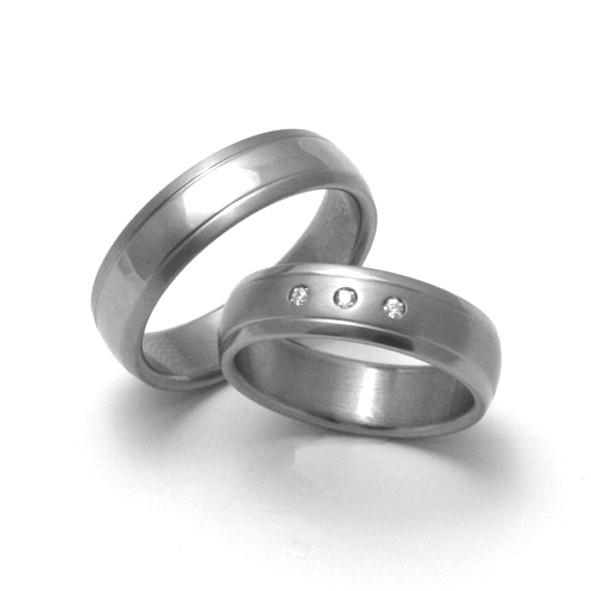 Snubní Titanové prsteny ZERO Collection TTN1601+TTN1603 (Snubní Titanové prsteny ZERO Collection TTN1601+TTN1603)