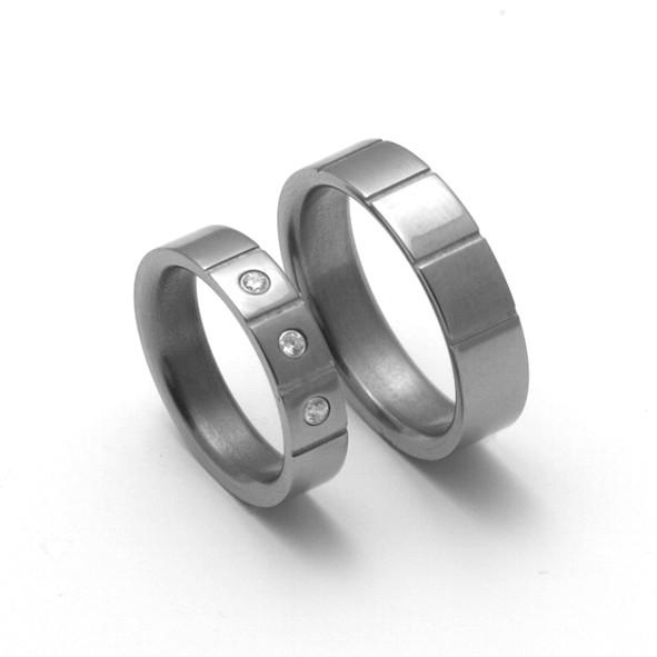 Snubní Titanové prsteny ZERO Collection -TTN2001+TTN2002 (Snubní Titanové prsteny ZERO Collection -TTN2001+TTN2002)
